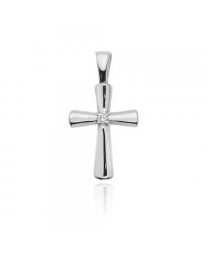 Krzyżyk złoty z brylantem