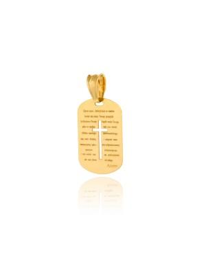 Medalik złoty z krzyżykiem
