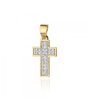 Krzyżyk złoty z brylantami