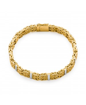 Bransoleta złota splot królewski