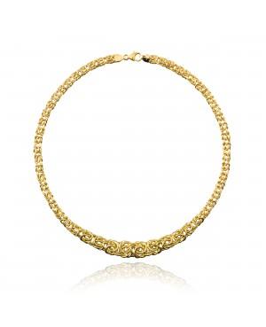 Naszyjnik złoty - Kolia splot bizantyjski
