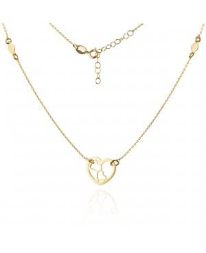 Naszyjnik złoty z serduszkiem - trzy serca