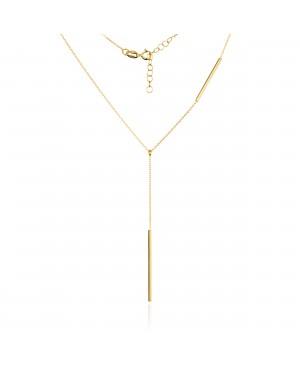 Naszyjnik złoty - krawatka