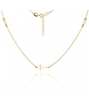 Naszyjnik złoty z krzyżykiem