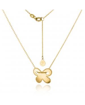 Naszyjnik złoty z motylem