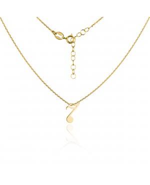 Naszyjnik złoty z nutką