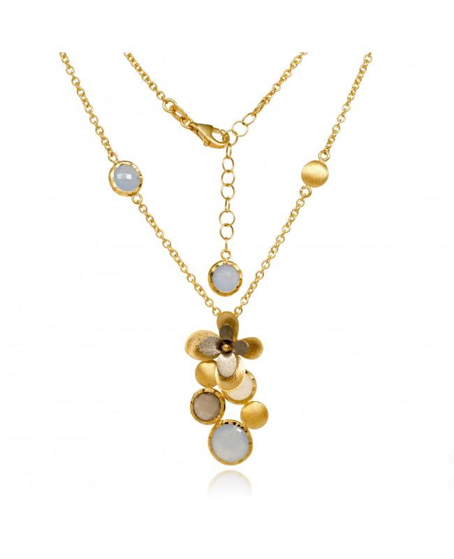 Naszyjnik złoty - kwiaty