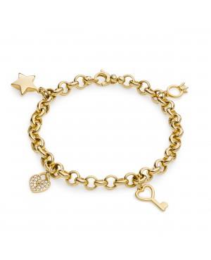 Bransoleta złota z zawieszkami charms