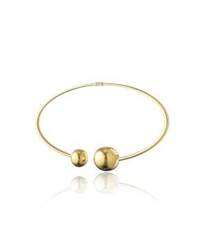 Bransoleta srebrna złocona bangle