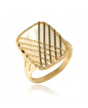 Pierścionek Złoty z masą perłową