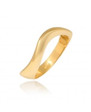 Pierścionek z zółtego złota - wave