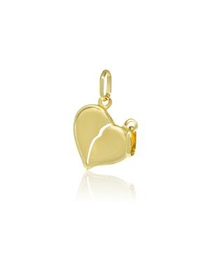 Zawieszka złota - dwa serca