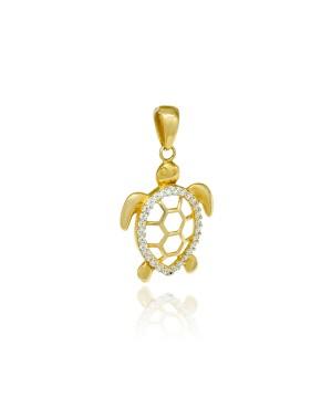 Zawieszka złota żółw