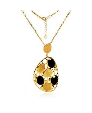 Naszyjnik Złoty – Medalion Z Onyksami