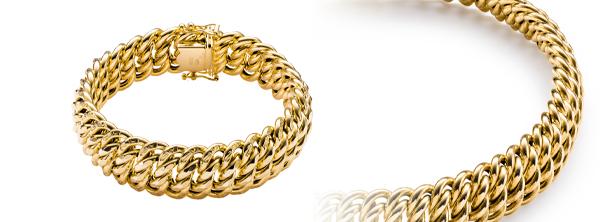 Bransolety złote
